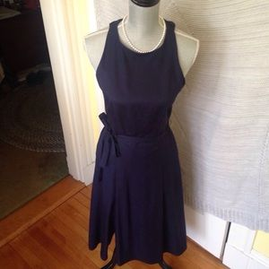 Sophisticated navy dress